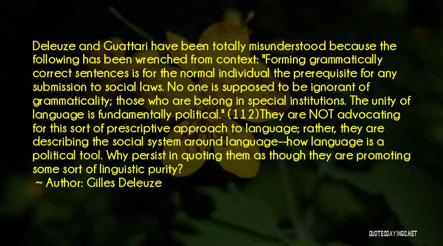 Descriptive Language Quotes By Gilles Deleuze