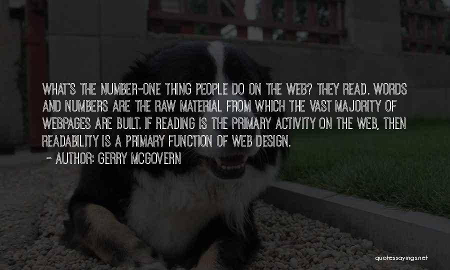 Design Function Quotes By Gerry McGovern
