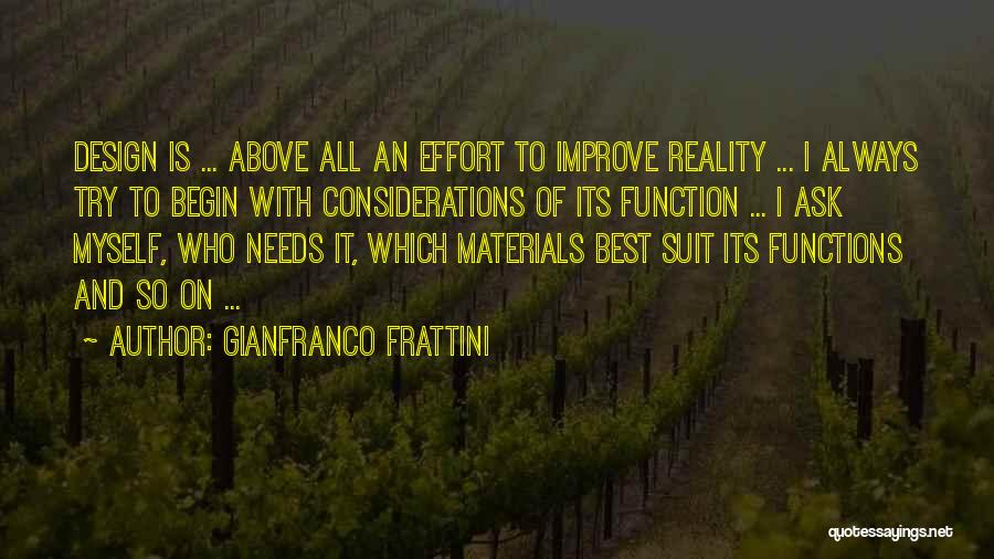 Design Function Quotes By Gianfranco Frattini