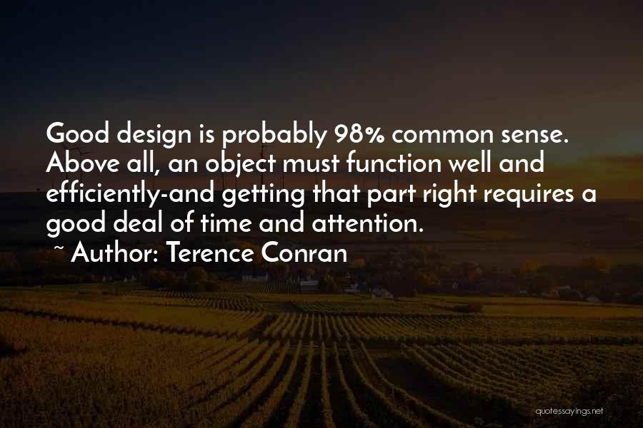 Design Function Quotes By Terence Conran