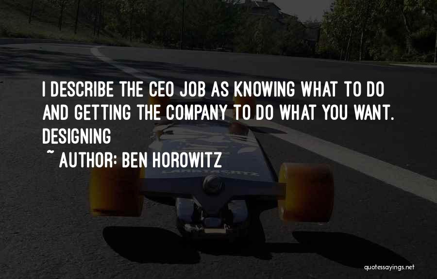 Designing Company Quotes By Ben Horowitz