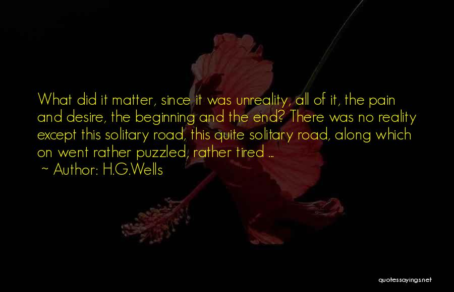 Desire And Pain Quotes By H.G.Wells