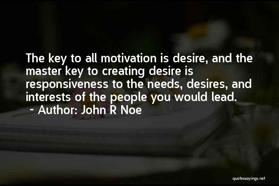 Desire Motivation Quotes By John R Noe