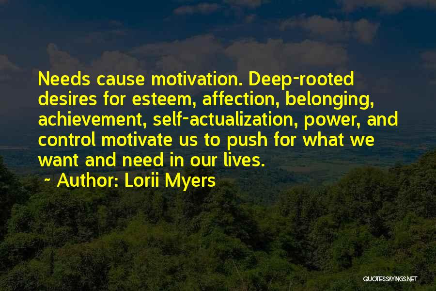 Desire Motivation Quotes By Lorii Myers
