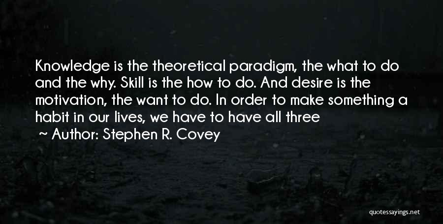 Desire Motivation Quotes By Stephen R. Covey