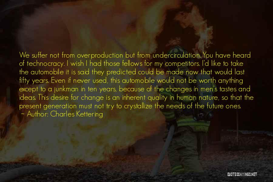 Desire To Change Quotes By Charles Kettering