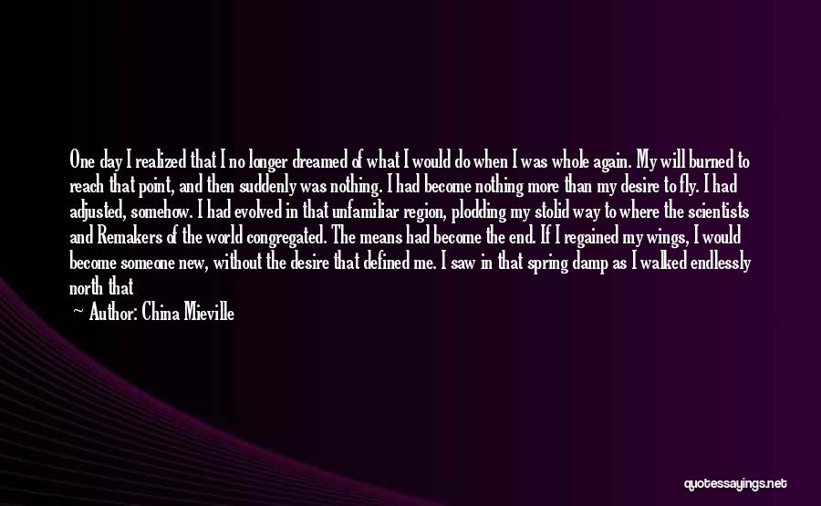 Desire To Fly Quotes By China Mieville