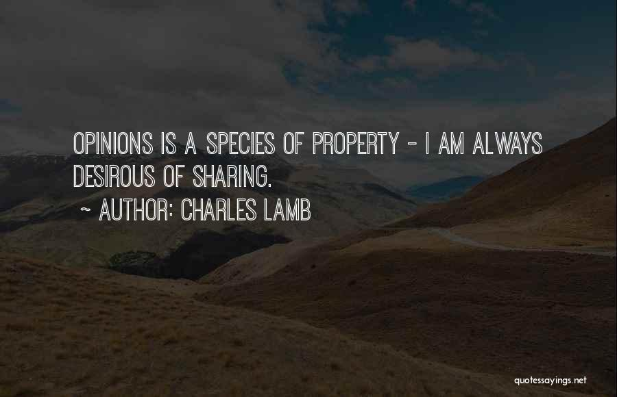 Desirous Quotes By Charles Lamb