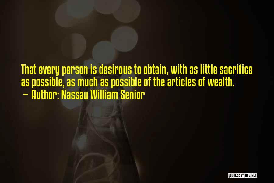 Desirous Quotes By Nassau William Senior