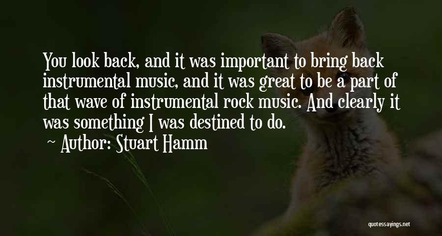 Destined For Great Things Quotes By Stuart Hamm