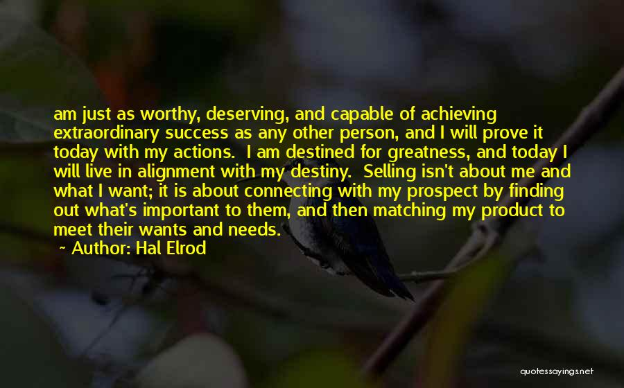 Destiny And Success Quotes By Hal Elrod