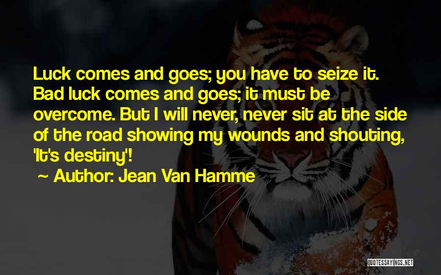 Destiny And Success Quotes By Jean Van Hamme