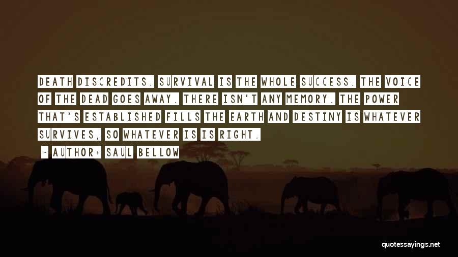 Destiny And Success Quotes By Saul Bellow