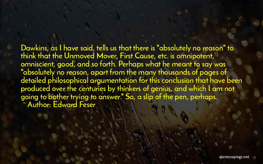 Detailed Quotes By Edward Feser