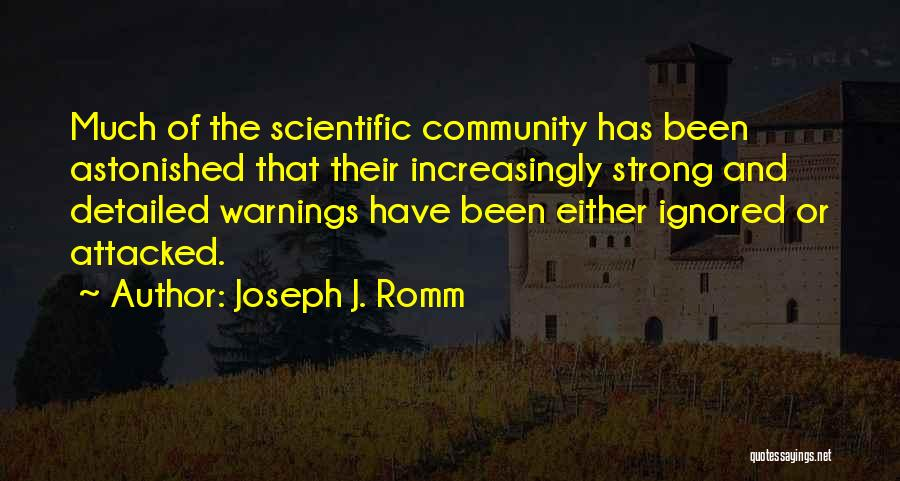 Detailed Quotes By Joseph J. Romm