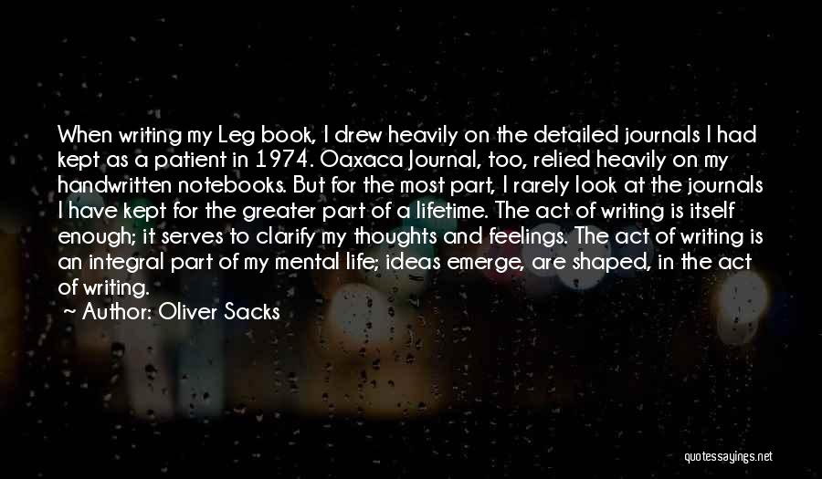 Detailed Quotes By Oliver Sacks