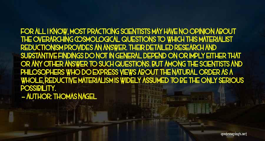 Detailed Quotes By Thomas Nagel