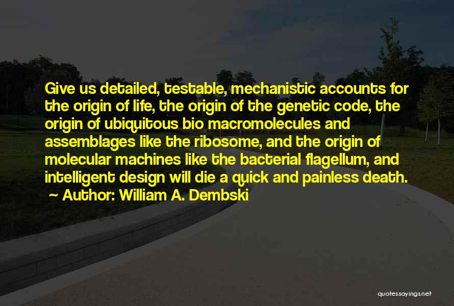 Detailed Quotes By William A. Dembski
