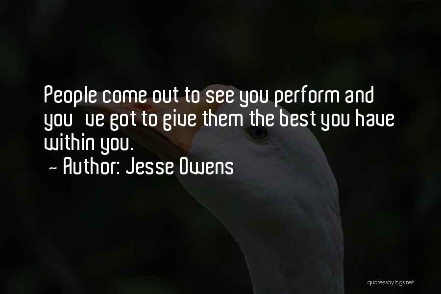 Determination And Not Giving Up Quotes By Jesse Owens