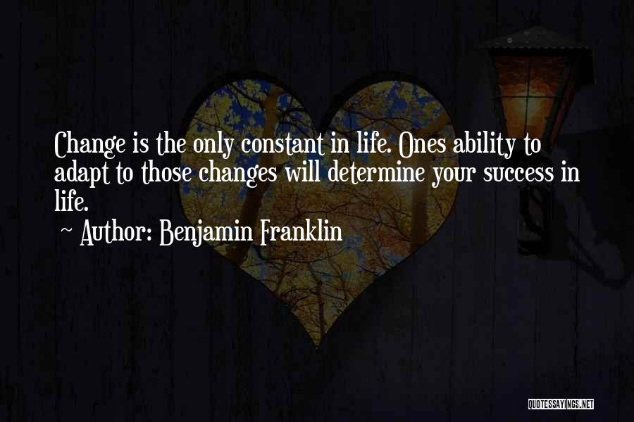 Determine Success Quotes By Benjamin Franklin