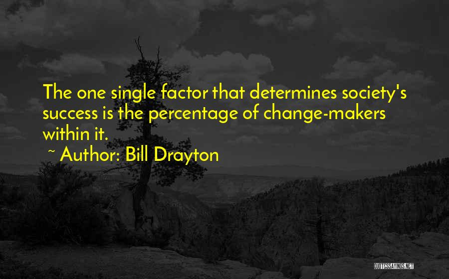 Determine Success Quotes By Bill Drayton