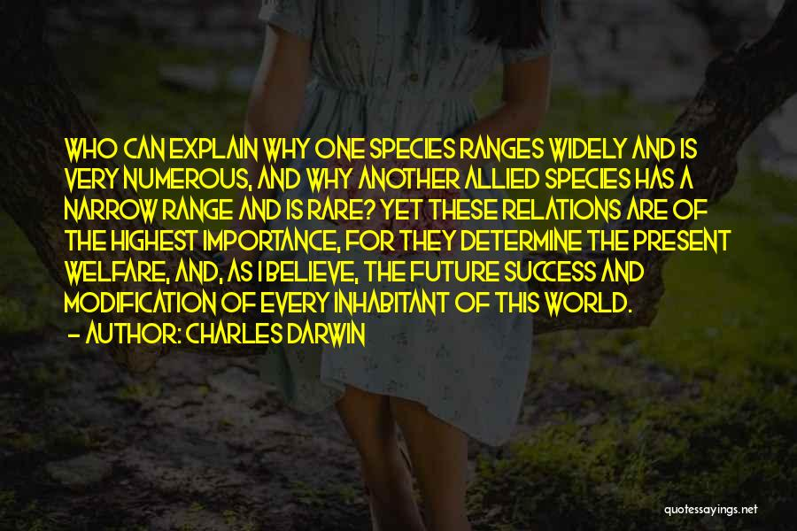 Determine Success Quotes By Charles Darwin