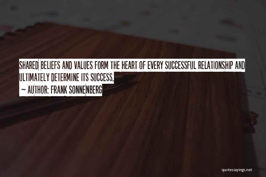 Determine Success Quotes By Frank Sonnenberg