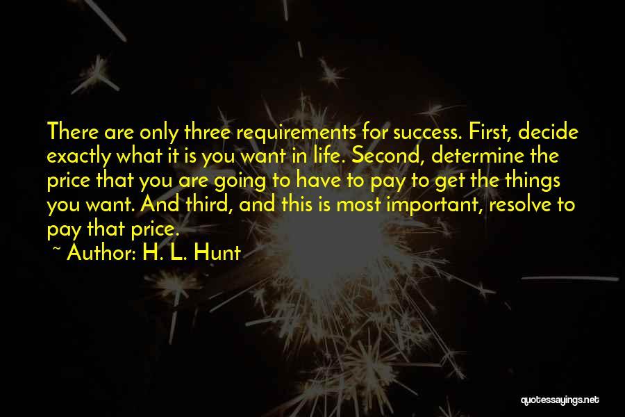 Determine Success Quotes By H. L. Hunt