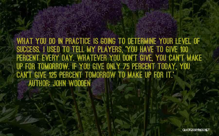 Determine Success Quotes By John Wooden