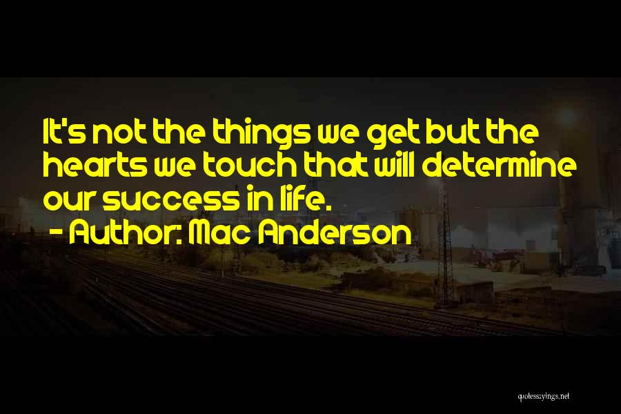 Determine Success Quotes By Mac Anderson