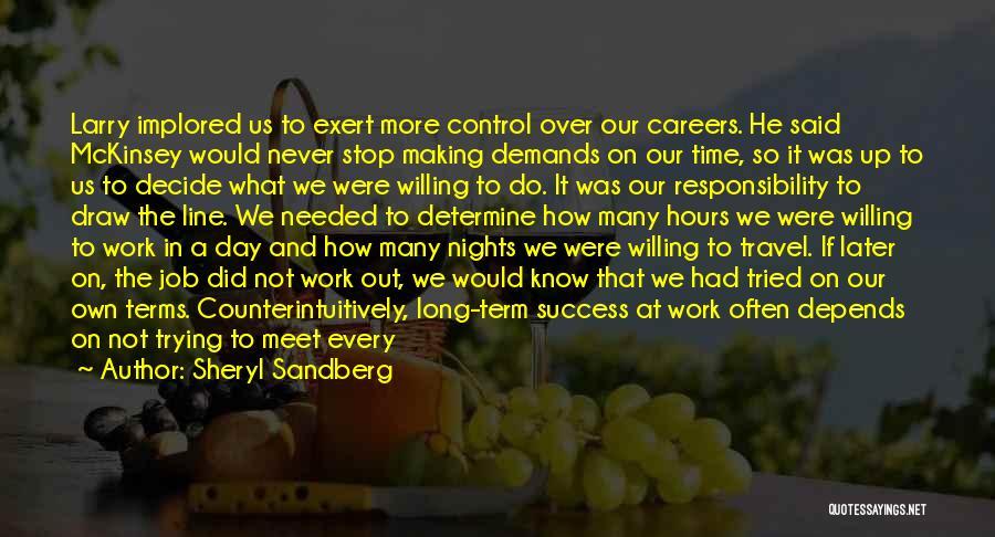 Determine Success Quotes By Sheryl Sandberg