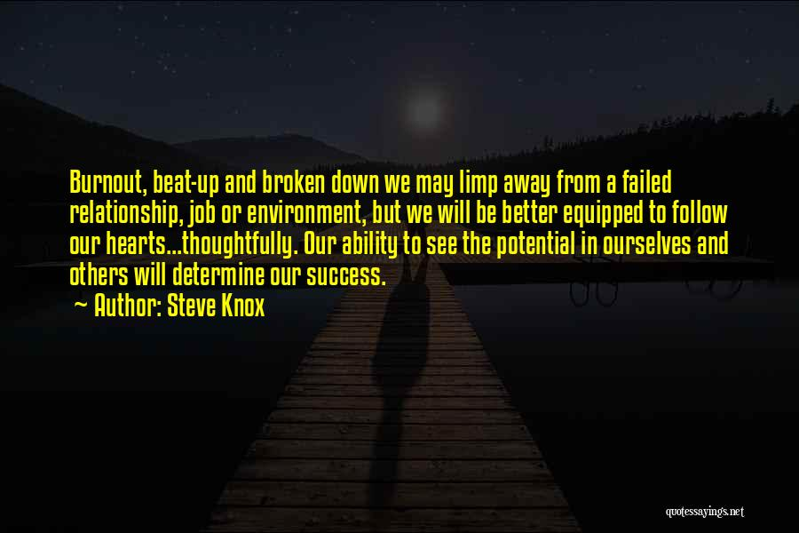 Determine Success Quotes By Steve Knox