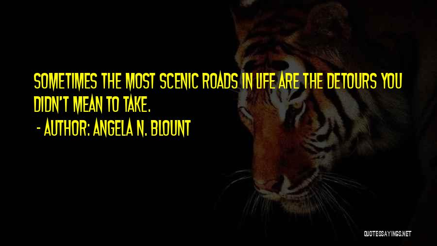 Detours In Life Quotes By Angela N. Blount