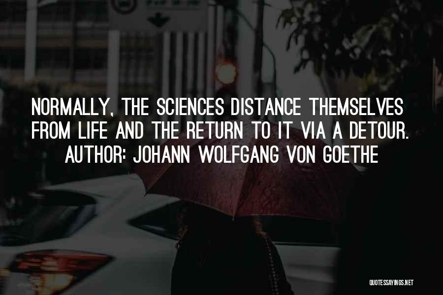 Detours In Life Quotes By Johann Wolfgang Von Goethe