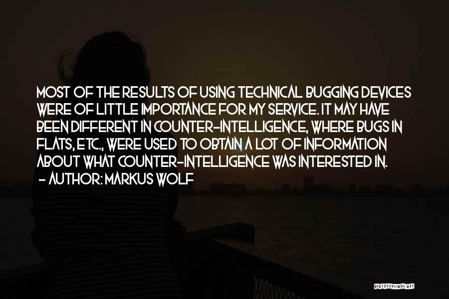 Devices Quotes By Markus Wolf