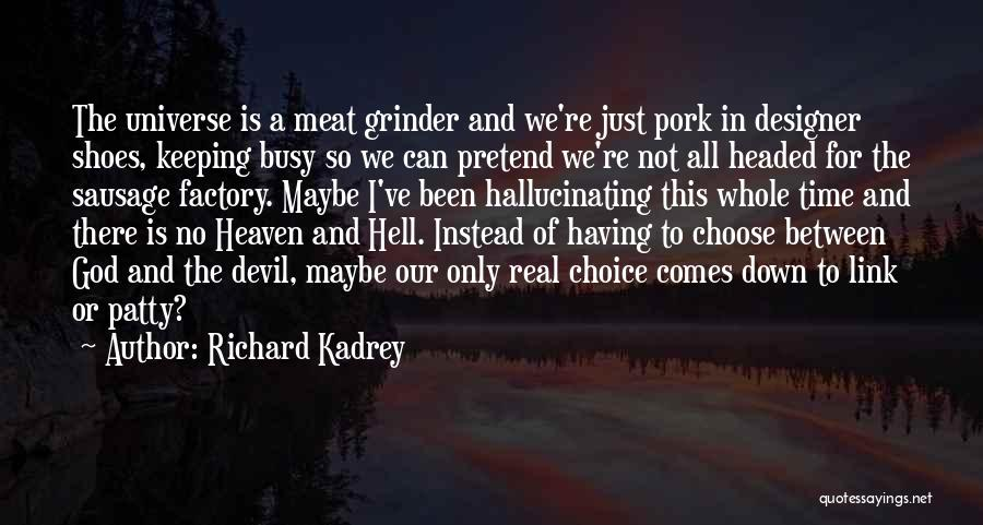 Devil Been Busy Quotes By Richard Kadrey
