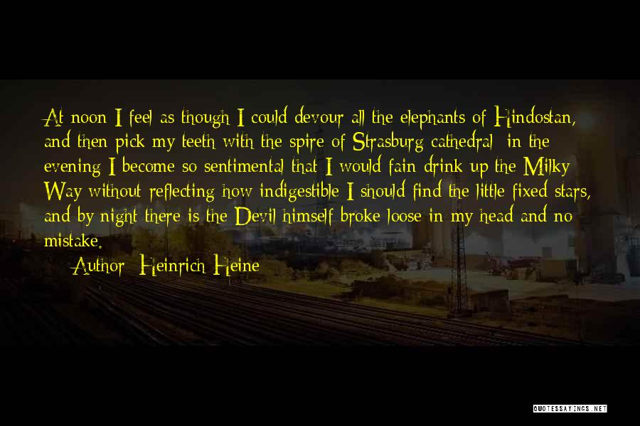 Devil Devour Quotes By Heinrich Heine