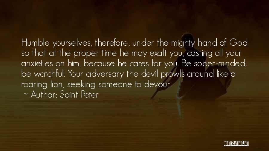 Devil Devour Quotes By Saint Peter
