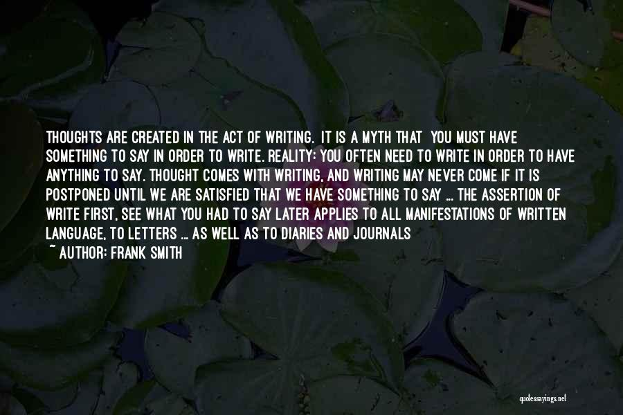 Diaries And Journals Quotes By Frank Smith
