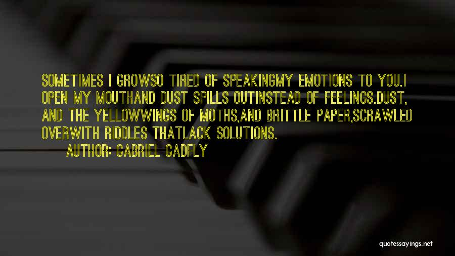 Diaries And Journals Quotes By Gabriel Gadfly