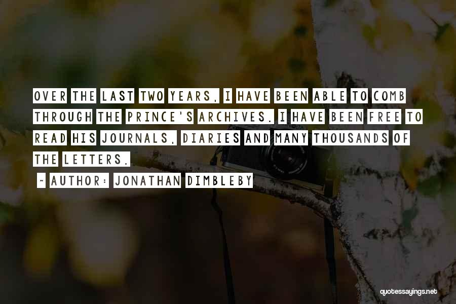 Diaries And Journals Quotes By Jonathan Dimbleby