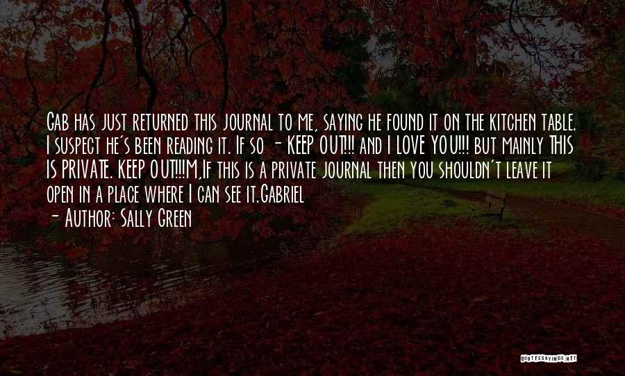 Diaries And Journals Quotes By Sally Green