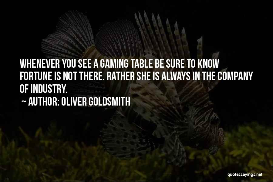 Did You Know Gaming Quotes By Oliver Goldsmith