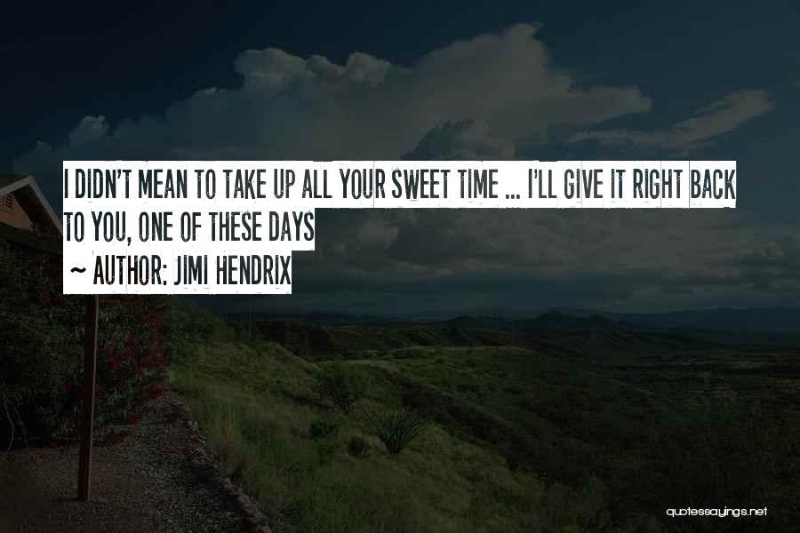 Didn't Give Up Quotes By Jimi Hendrix