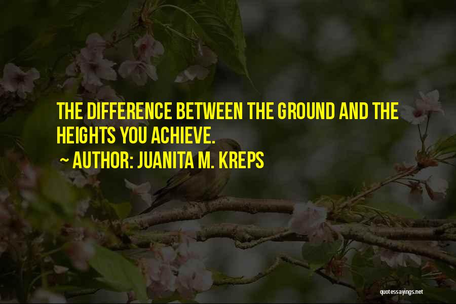 Difference In Height Quotes By Juanita M. Kreps