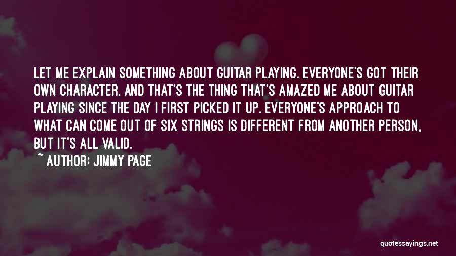 Different From Everyone Quotes By Jimmy Page