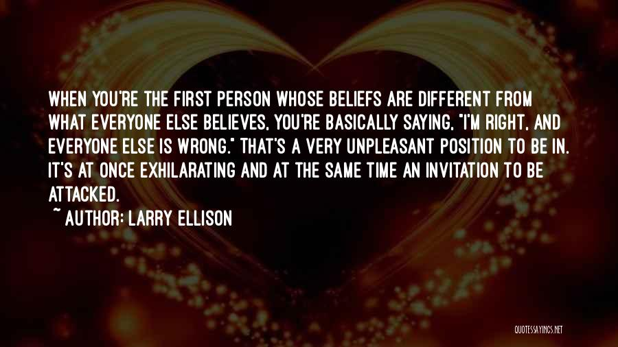 Different From Everyone Quotes By Larry Ellison