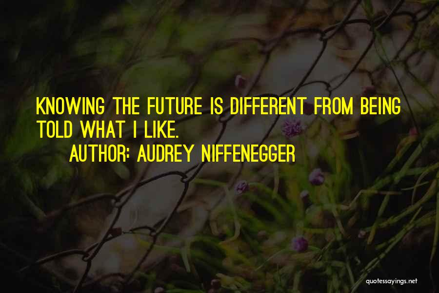 Different Likes Quotes By Audrey Niffenegger