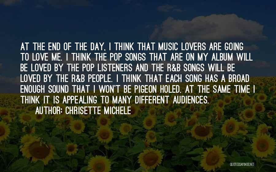Different Lovers Quotes By Chrisette Michele
