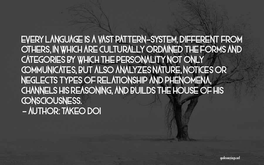 Different Personality Types Quotes By Takeo Doi